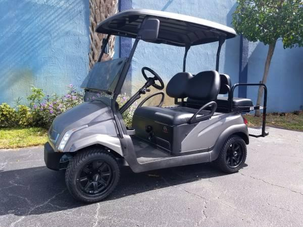 2014 Club Car Precedent Golf Cart w/Platinum Gray Caddy Body Kit