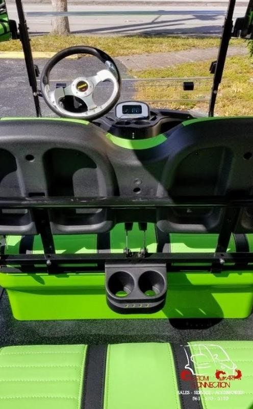 2021 ICON i60L Lime Green 6 Passenger Golf Cart Electric Vehicle