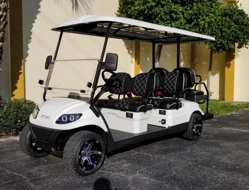 2020 ICON i60 Golf Cart w/Custom Seats; Rims & Tires