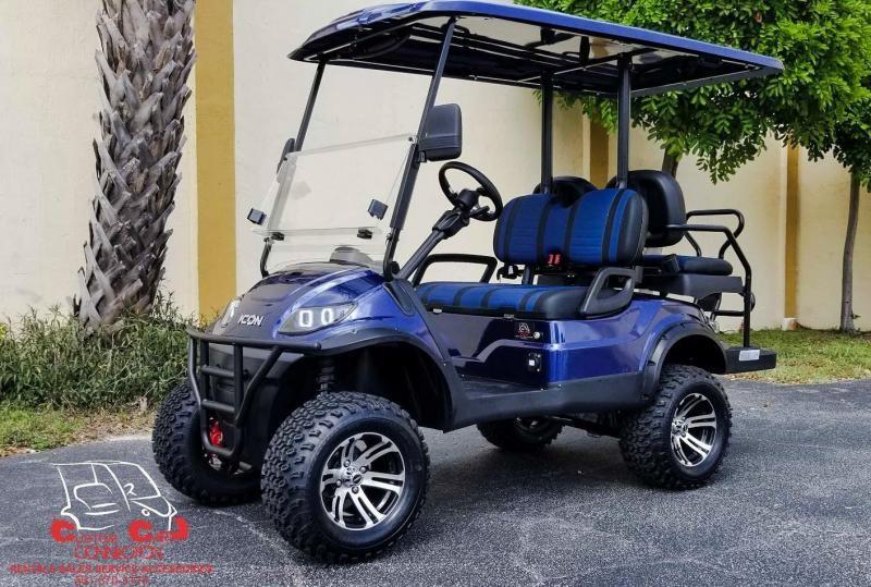 2020 ICON i40L Indigo Blue Golf Cart Electric Vehicle