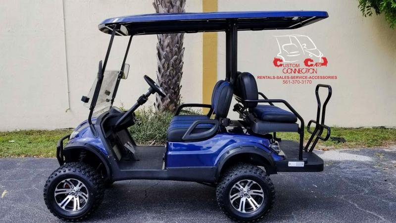 2021 ICON i40L Indigo Blue Golf Cart Electric Vehicle