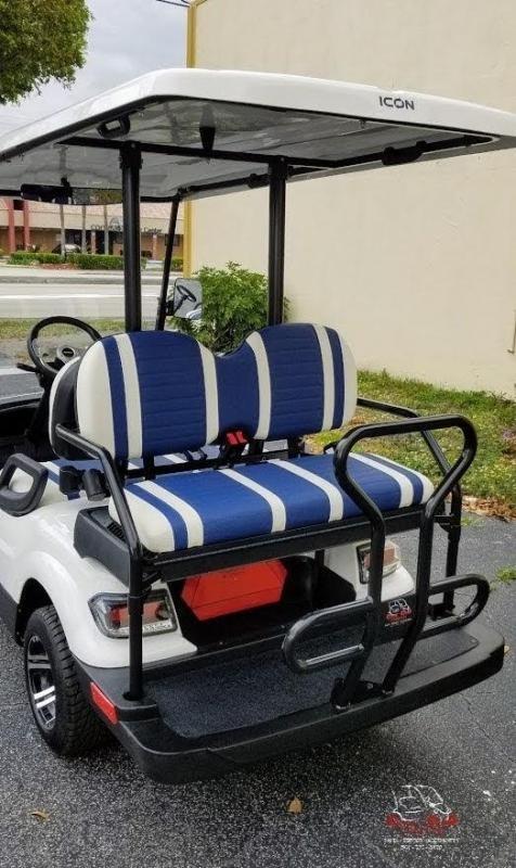 2021 ICON i40 White Golf Cart Electric Vehicle