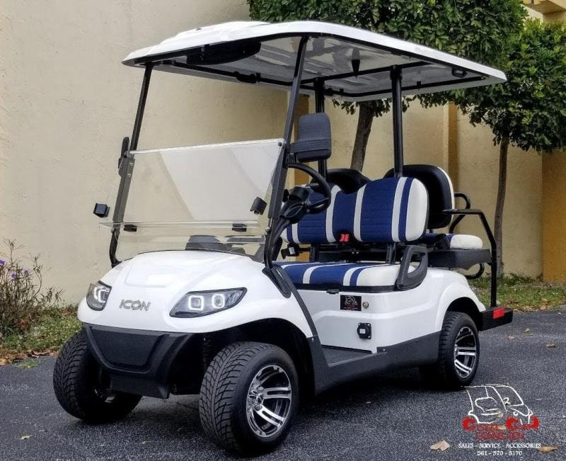 2021 ICON i40 White Golf Cart Electric Vehicle
