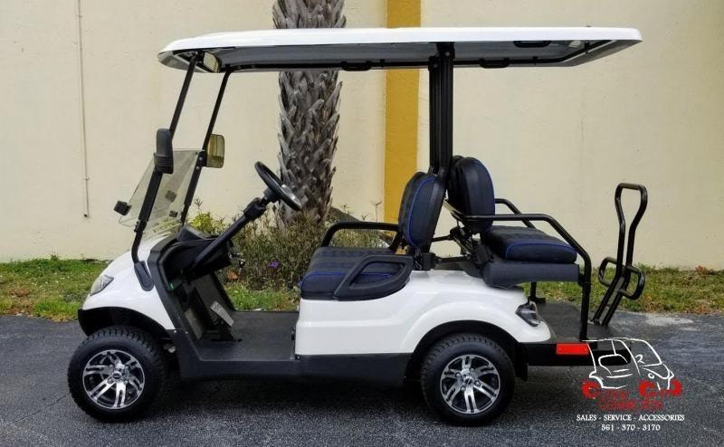 2021 ICON i40 White w/Custom Seats Golf Cart Electric Vehicle