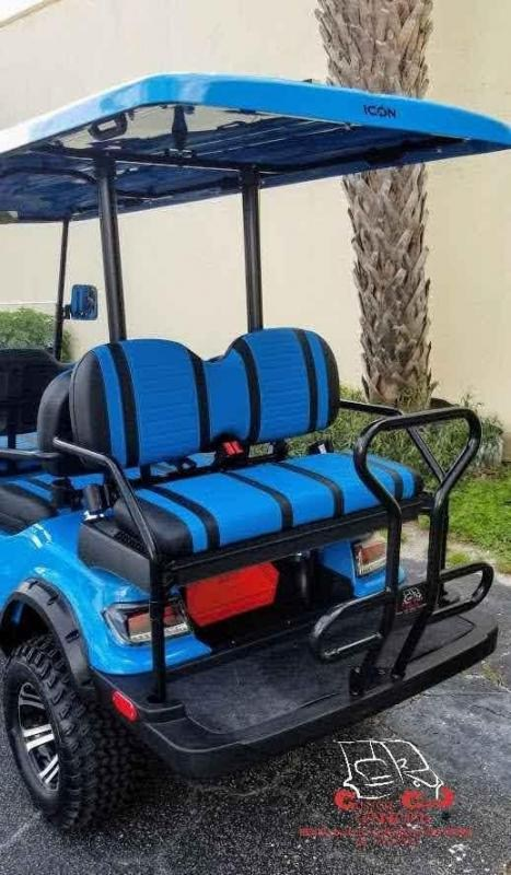2020 ICON i60L Caribbean Blue Lifted Golf Cart Electric Vehicle