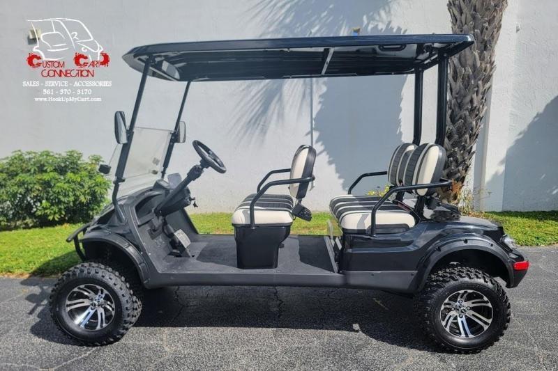 2022 ICON i40FL Black Golf Cart Electric Vehicle