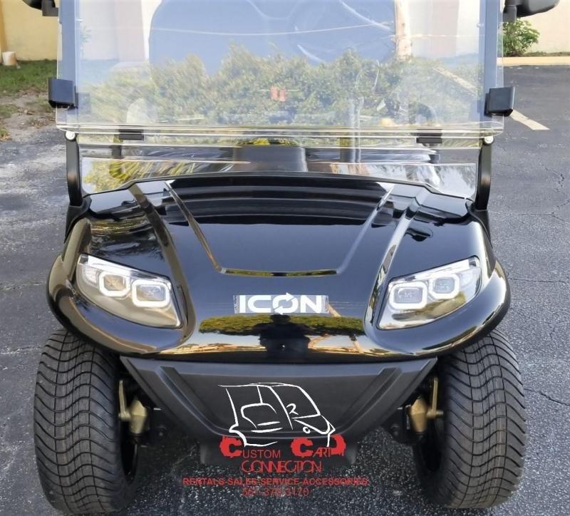 2020 ICON i40 Black Metallic Golf Cart Electric Vehicle