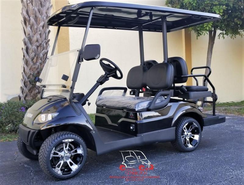 2021 ICON i40 Black Metallic Golf Cart Electric Vehicle