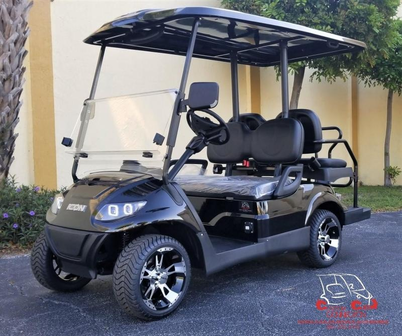 2021 ICON i40 Black Metallic Golf Cart Electric Vehicle