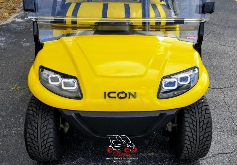 2021 ICON i40 Yellow Golf Cart Electric Vehicle