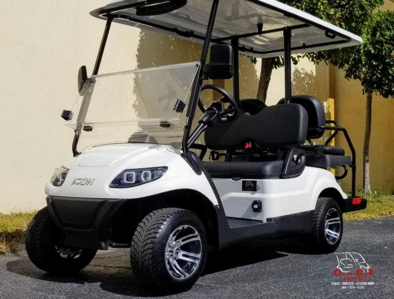 2021 ICON i40 White Golf Cart Electric Vehicles