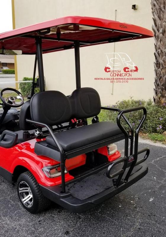2020 ICON i40 Red Electric Golf Cart