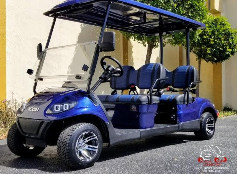 2021 ICON i40F Indigo Blue Golf Cart Electric Vehicle