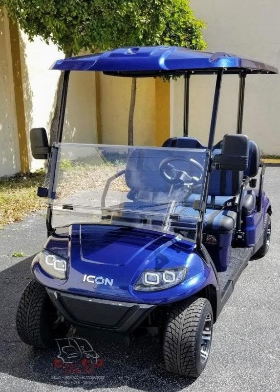2021 ICON i40F Indigo Blue Golf Cart Electric Vehicle