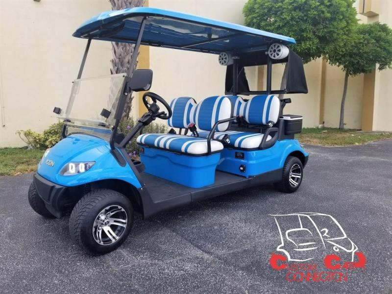 2020 ICON i40F Golf Cart w/Bag Attachments & Club Protector