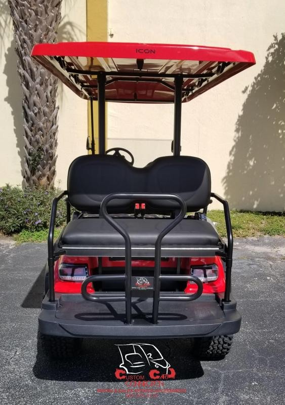 2020 ICON i60L Red 6 Passenger Lifted Golf Cart Electric Vehicle