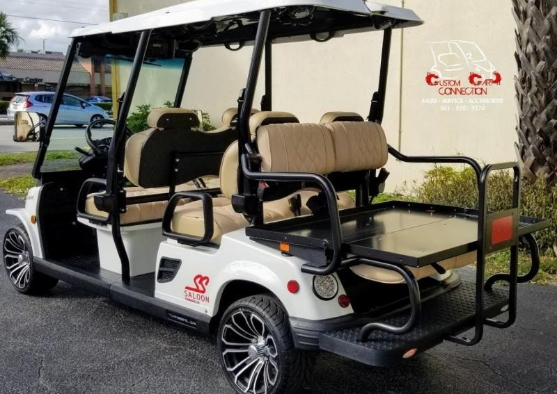 2021 Tomberlin E4 SS Saloon White Golf Cart 6 Passenger