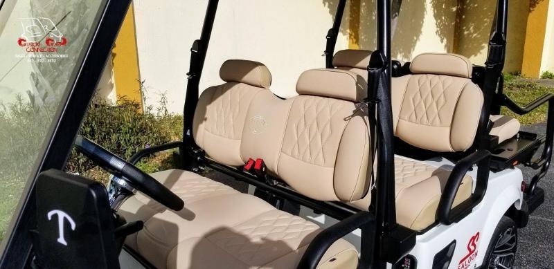 2021 Tomberlin E4 SS Saloon White Golf Cart 6 Passenger