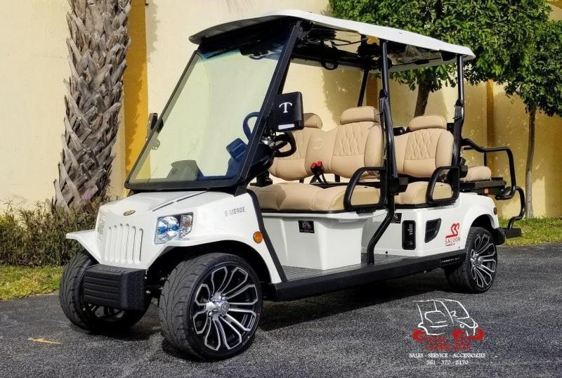 2022 Tomberlin E4 SS Saloon White Golf Cart 6 Passenger