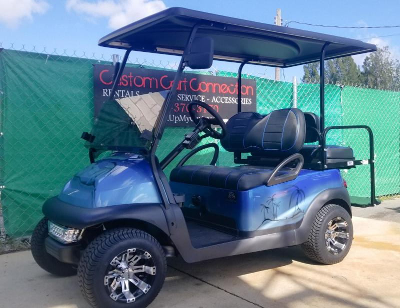 2015 Custom Blue Tropical Club Car Precedent Golf Cart