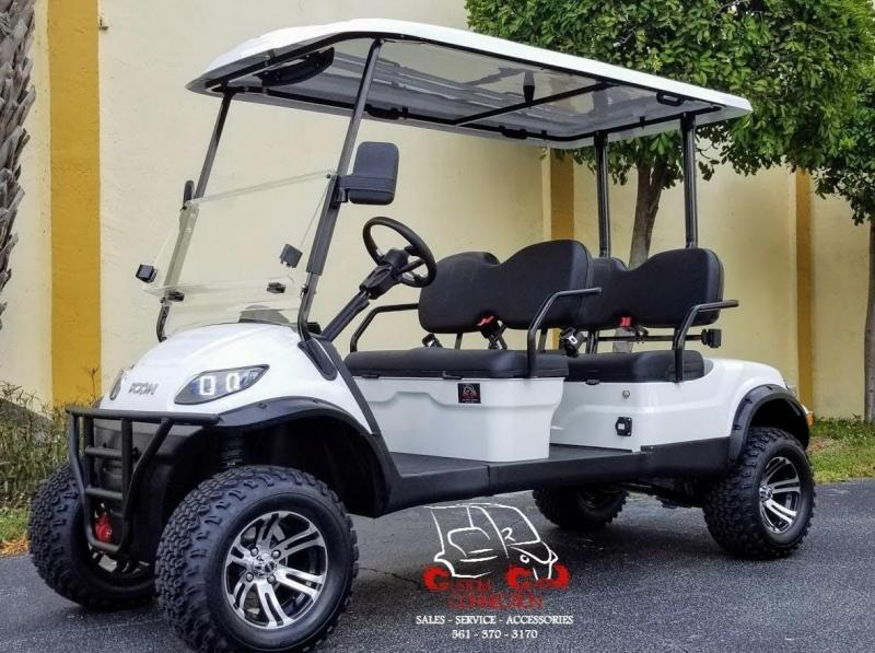 2021 ICON i40FL White Golf Cart w/Black Seats Electric Vehicle