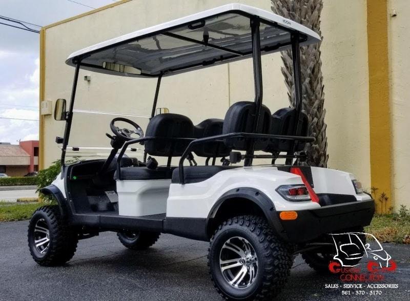 2021 ICON i40FL White Golf Cart w/Black Seats Electric Vehicle