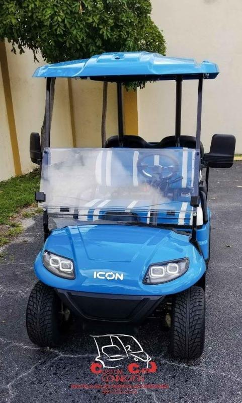 2021 ICON i40 Caribben Blue Golf Cart Electric Vehicle