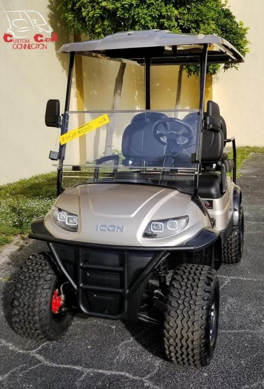 2020 ICON i40L Champagne Gold Golf Cart Electric Vehicle