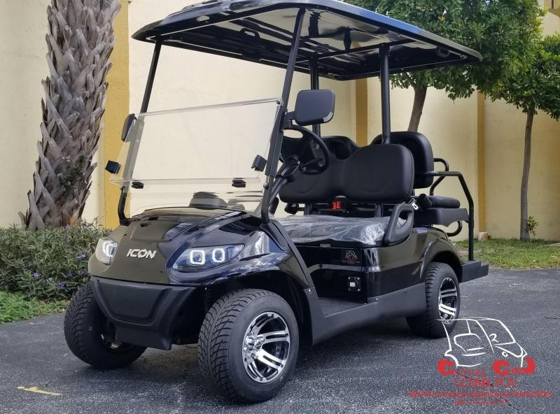 2020 ICON i40 Black 4 Passenger Golf Cart