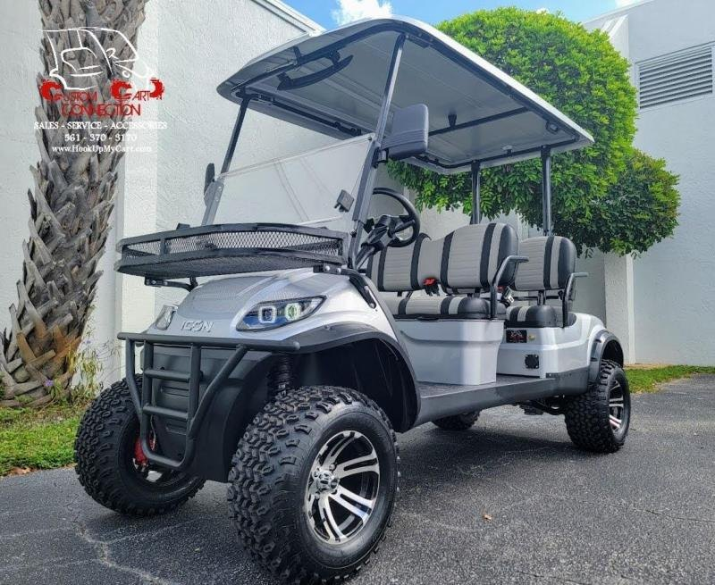 2021 ICON i40FL Silver Golf Cart Electric Vehicle