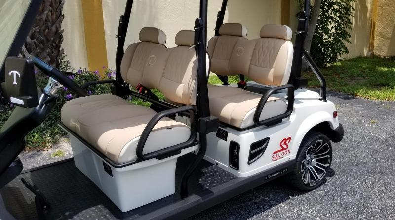 2021 Tomberlin E4 SS Saloon Pearl White Golf Cart LSV