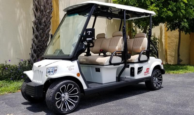 2022 Tomberlin E4 SS Saloon Pearl White Golf Cart LSV
