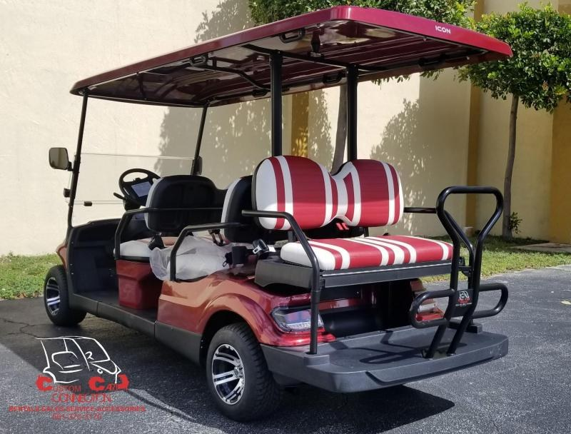 2020 ICON i60 Sangria 6 Passenger Golf Cart