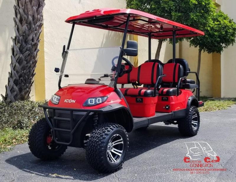 2020 ICON i60L Red 6 Passenger Golf Cart
