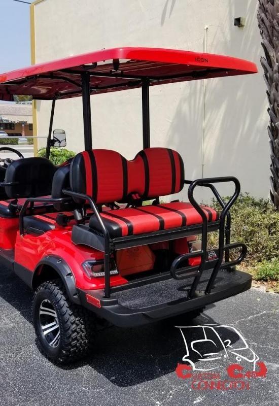 2020 ICON i60L Red 6 Passenger Golf Cart