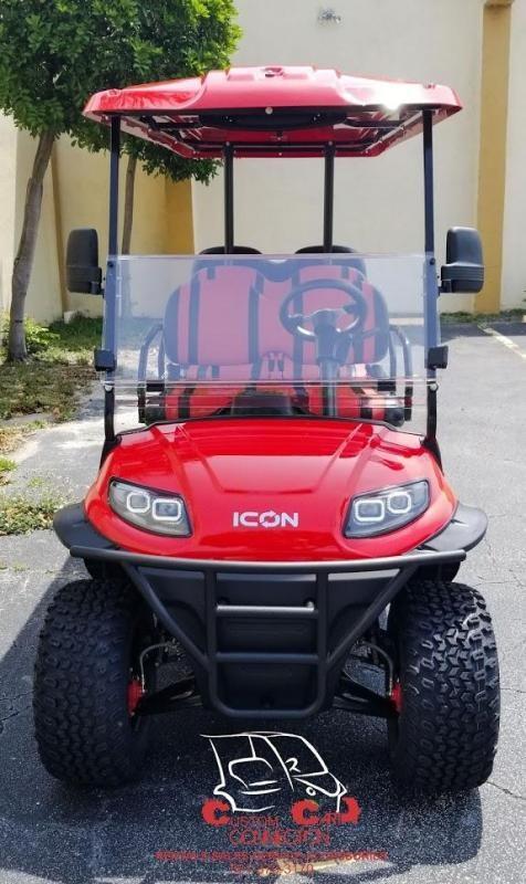2021 ICON i60L Red 6 Passenger Golf Cart
