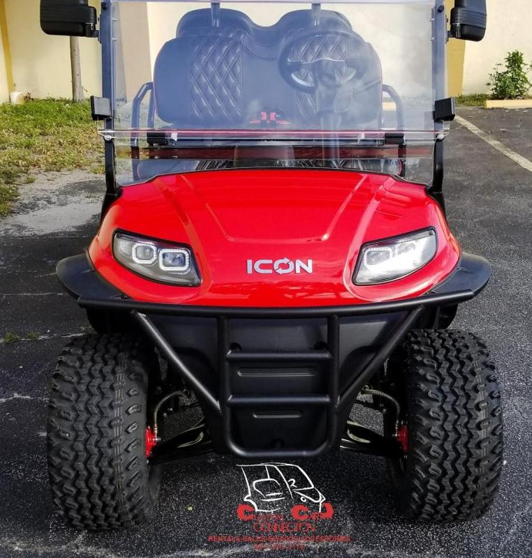 2020 ICON i60L Red  Golf Cart w/Custom Seats
