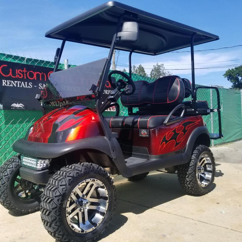 Custom Club Car PRECEDENT Golf Cart Remanufatured in 2020 using a 2016 Club Car Frame **LOTS OF UPGRADES**
