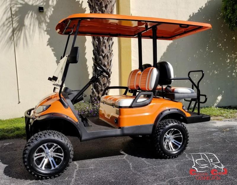 2020 ICON i40L Lifted Orange Golf Cart