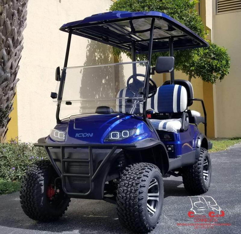 2020 ICON i40L Indigo Blue Lifted Golf Cart