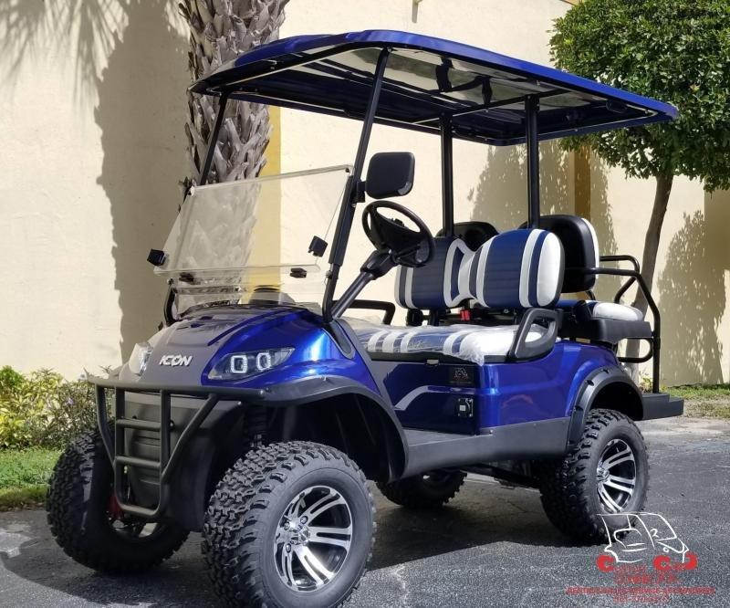 2021 ICON i40L Indigo Blue Lifted Golf Cart