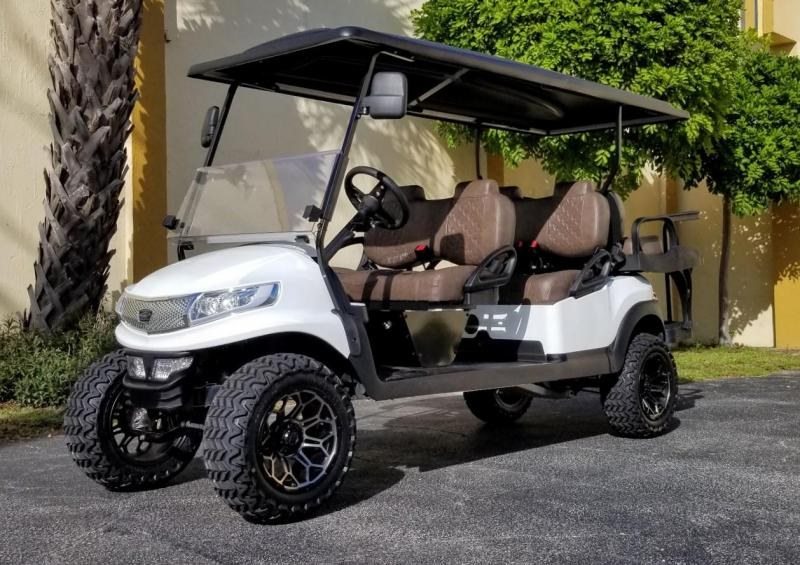 2018 Club Car Precedent Lifted 6 Passenger Golf Cart Gas/EFI
