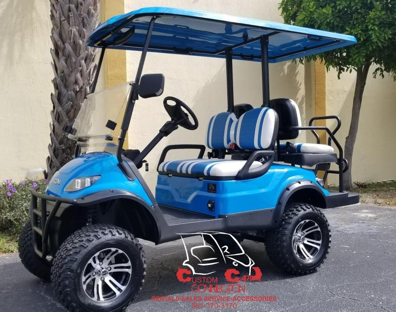 2020 ICON i40L Lifted Caribbean Blue Golf Cart