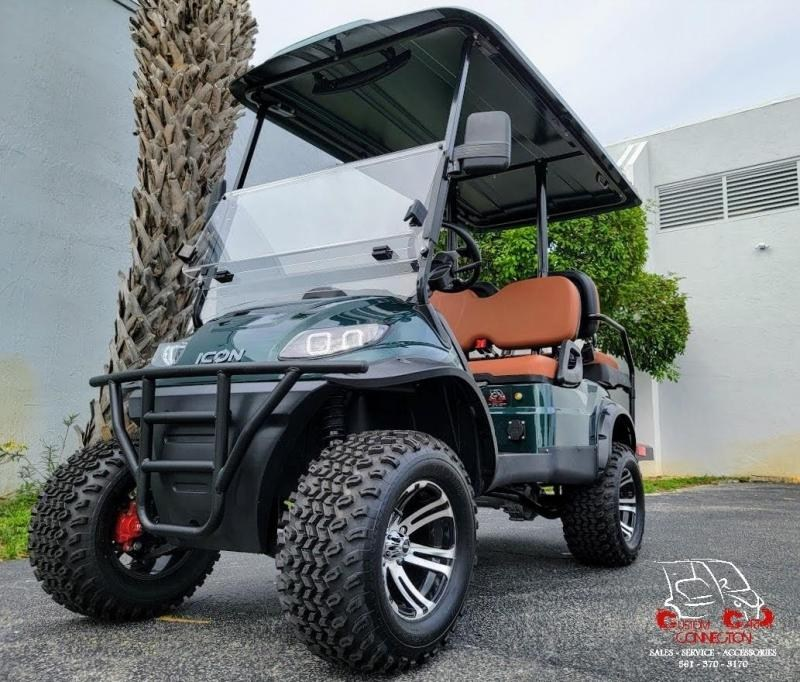 2021 ICON i40L Forest Green Golf Cart Electric Vehicles