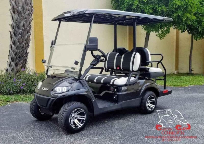 2021 ICON i40 Black Golf Cart
