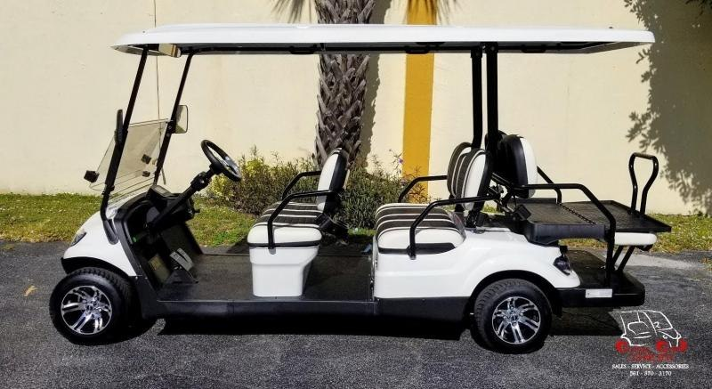 2021 ICON i60 White Golf Cart 6 Passenger