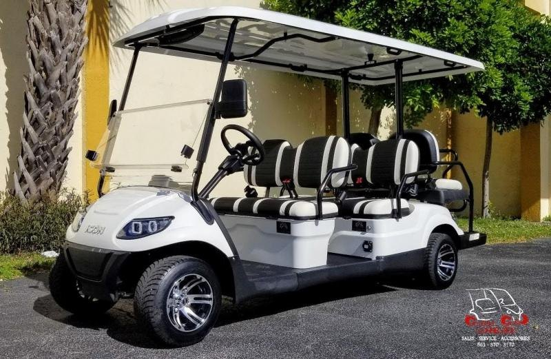 2021 ICON i60 White Golf Cart 6 Passenger