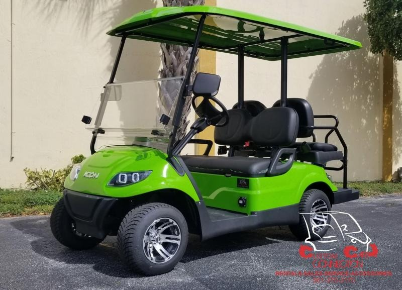 2021 ICON i40 Lime Green Golf Cart