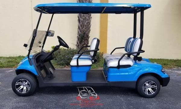 2020 ICON i40F Caribbean Blue Golf Cart Electric Vehicle