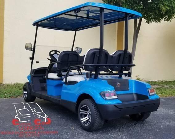 2021 ICON i40F Caribbean Blue Golf Cart Electric Vehicle